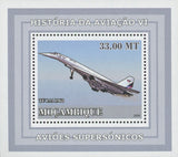 Supersonic Planes TU 144 Mini Sov. Sheet MNH