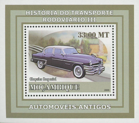 Road Transport Antique Cars Chrysler Mini Sov. Sheet MNH