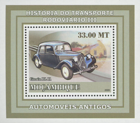 Road Transport Antique Cars Citroen Mini Sov. Sheet MNH