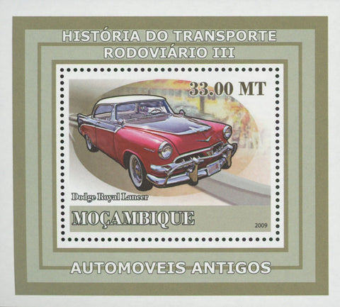 Road Transport Antique Cars Dodge Royal Mini Sov. Sheet MNH