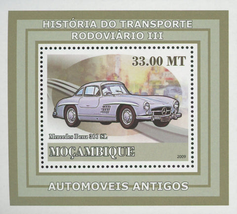 Road Transport Antique Cars Mercedes Benz Mini Sov. Sheet MNH