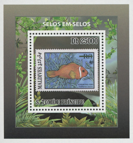 Stamp in Stamp Maldives Anemone Fish Mini Sov. Sheet MNH