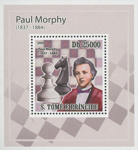 Paul Morphy Chess Knight Mini Sov. Sheet MNH