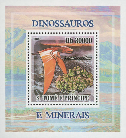 Dinosaur and Minerals Pyromorphite Mini Sov. Sheet MNH