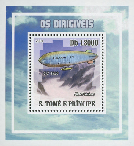 Dirigibles Alps Mini Sov. Sheet MNH