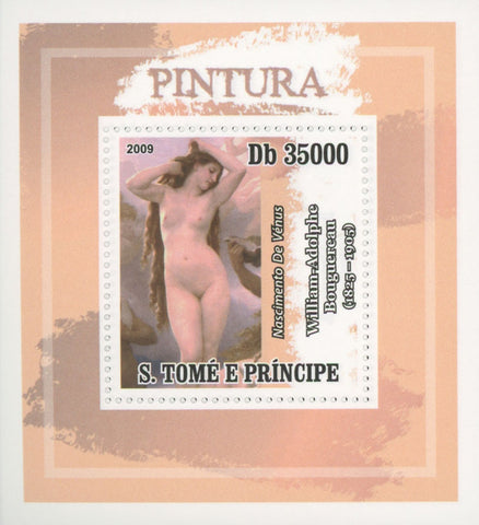 Paintings Venus Birth Mini Sov. Sheet MNH