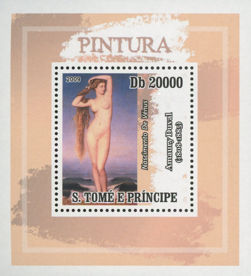 Paintings Venus Birth Duval Mini Sov. Sheet MNH