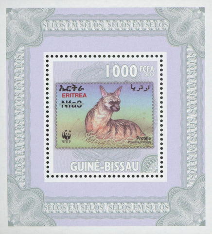Stamp in Stamp Australia Hyena Mini Sov. Sheet MNH