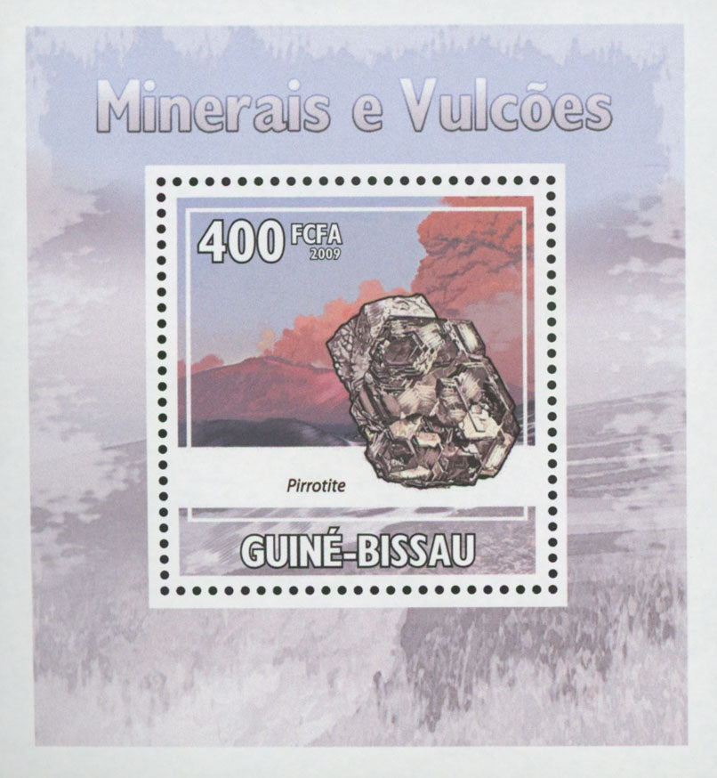 Minerals and Volcanos Stamp Pirrotite Mini Sov. Sheet MNH
