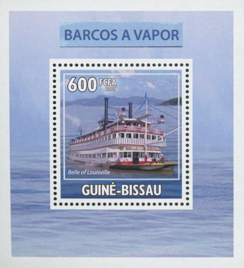 Steam Boats Belle of Louisville Mini Sov. Sheet MNH