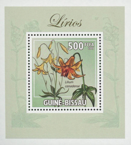 Lilies Canadian Flower Plant Mini Sov. Sheet MNH