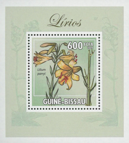 Lilies Parryi Flower Plant Mini Sov. Sheet MNH