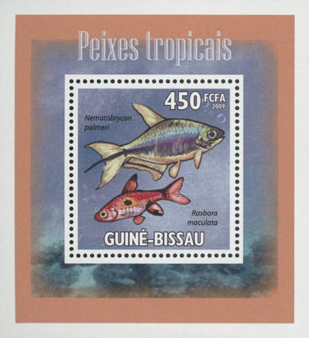 Tropical Fish Rasbora Mini Sov. Sheet MNH