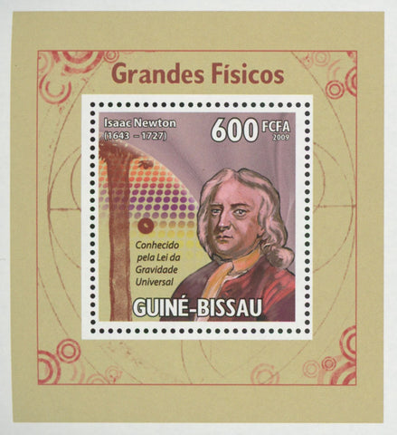 Famous Physicist Isaac Newton Mini Sov. Sheet MNH