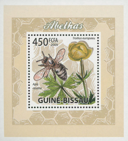 Bees Plants Flowers Apis Cerana Mini Sov. Sheet MNH