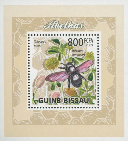 Bees Plants Flowers Xylocopa Valga Mini Sov. Sheet MNH