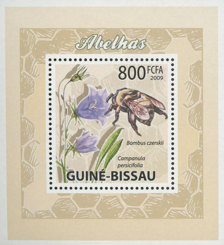 Bees Plants Flowers Bombus Czerskii Mini Sov. Sheet MNH