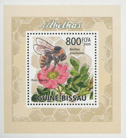 Bees Plants Flowers Bombus Anachoreta Mini Sov. Sheet MNH
