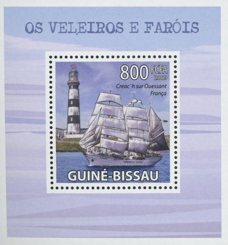 Sailboats and Lighthouses Creac'h On Ushant  Mini Sov. Sheet MNH