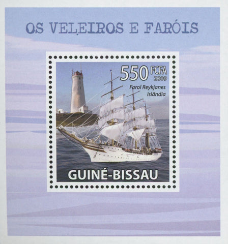 Sailboats and Lighthouses Reykjanes Iceland Mini Sov. Sheet MNH