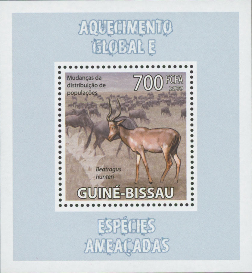 Global Warming Endangered Species Beatrogus Mini Sov. Sheet MNH