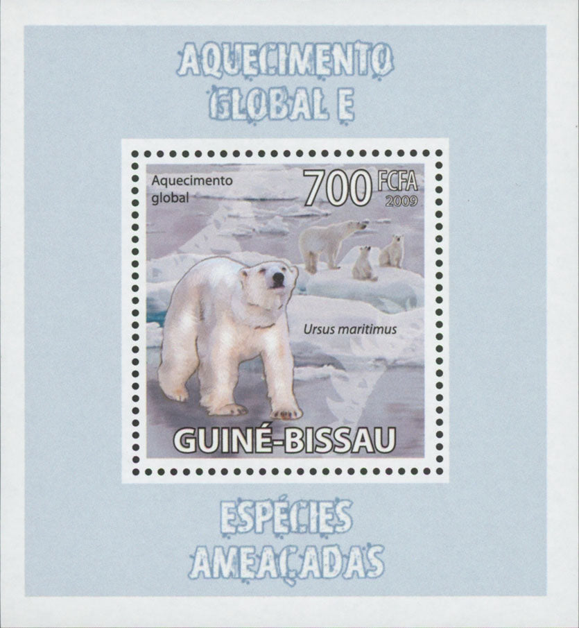 Global Warming Endangered Species Ursus Maritimus Mini Sov. Sheet MNH