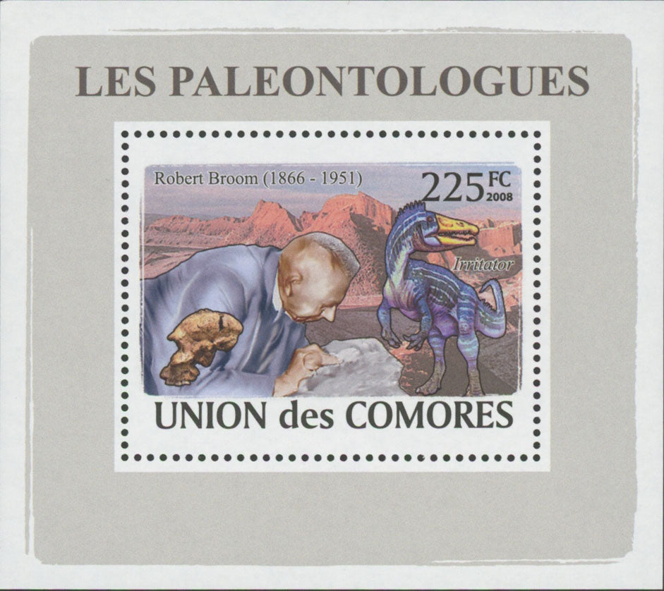 Paleontologists Robert Broom Mini Sov. Sheet MNH