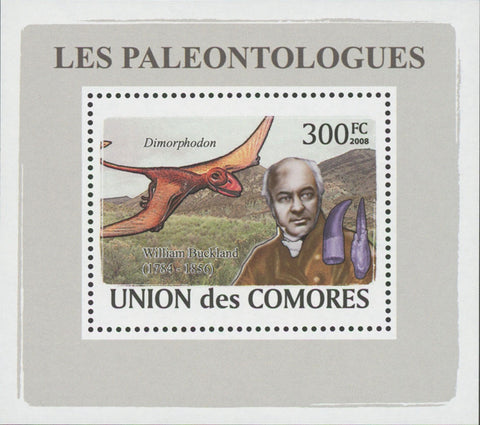 Paleontologists Dinosaur William Buckland Mini Sov. Sheet MNH