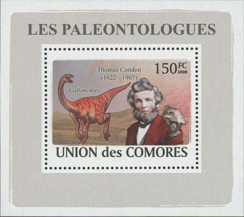 Paleontologists Dinosaur Thomas Condon Mini Sov. Sheet MNH