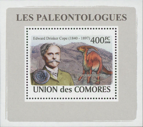 Paleontologists Dinosaur Edward Drinker Mini Sov. Sheet MNH