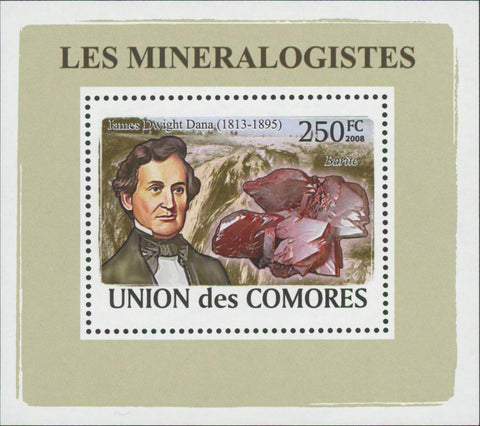 Mineralogist Jamee Dwight Dana Mini Sov. Sheet MNH