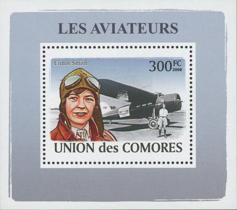 Aviators Elinor Smith Mini Sov. Sheet MNH