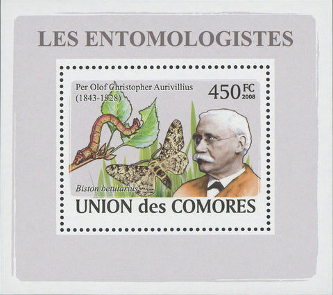 Entomologist Per Olof Christopher Aurivillius Butterfly Mini Sov. Sheet