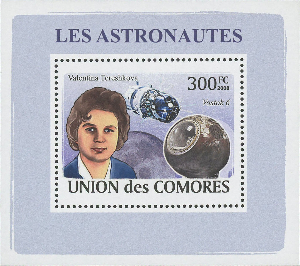 Astronaut Valentina Tereshkova Space Mini Sov. Sheet MNH