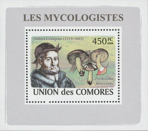 Mycologist Andrea Cesalpino Fungi Mushrooms Mini Sov. Sheet MNH