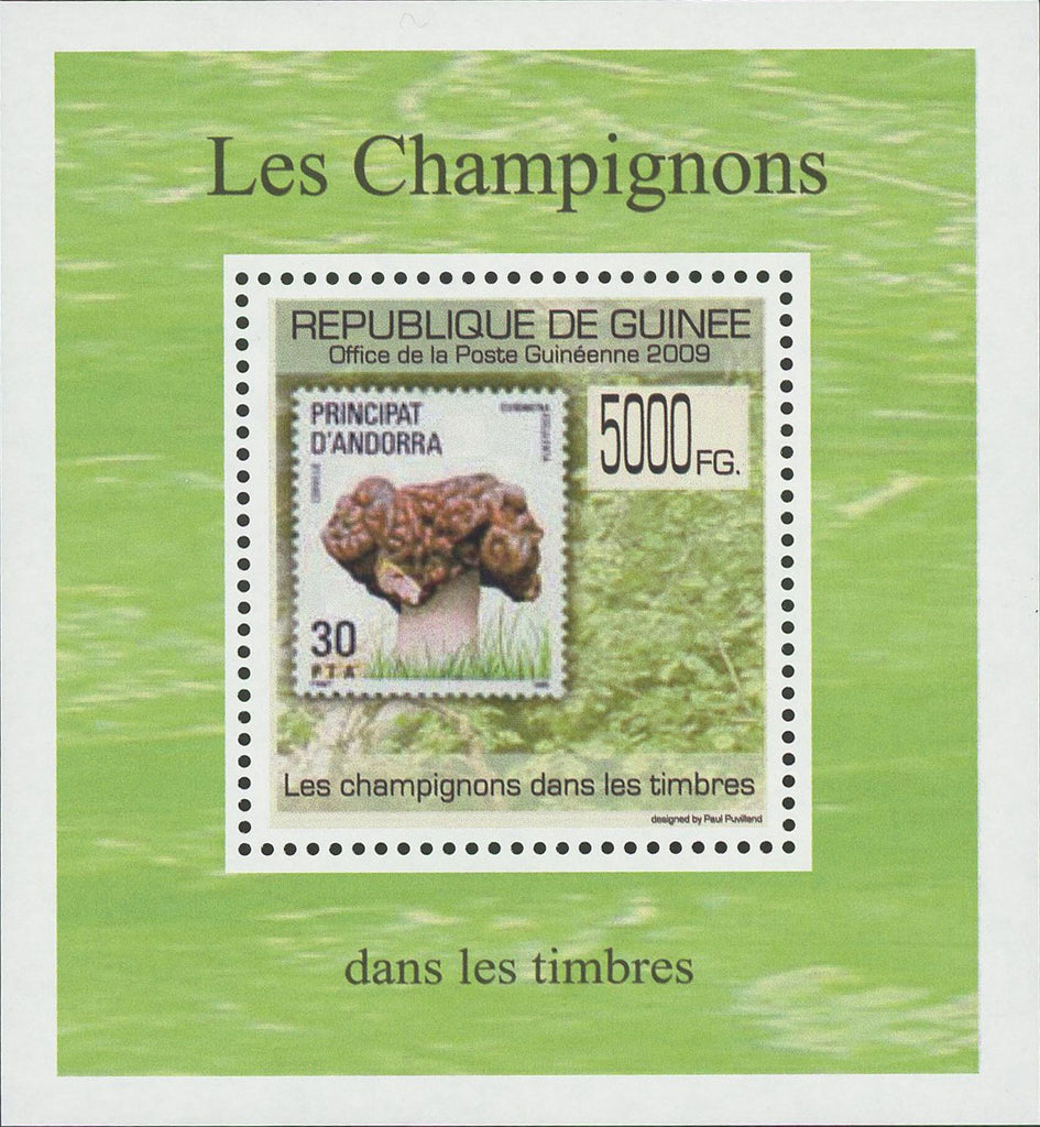 Stamp in a Stamp Mushrooms Andorra Mini Sov. Sheet MNH