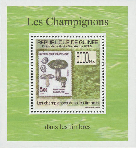 Stamp in a Stamp Mushrooms France Mini Sov. Sheet MNH