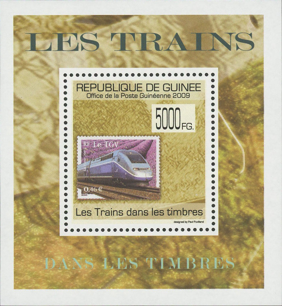 Stamp in a Stamp Trains TGV Mini Sov. Sheet MNH