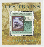 Stamp in a Stamp Trains Marshall Islands Palm Trees Mini Sov. Sheet MNH