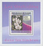 Stamp in a Stamp Orchidaceae White Flower Australia Mini Sov. Sheet MNH