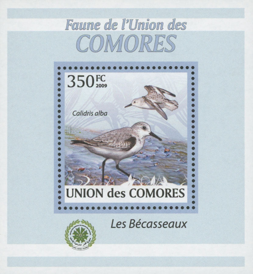 Sandpiper Bird Stamp Calidris Alba Birds Mini Sov. Sheet MNH