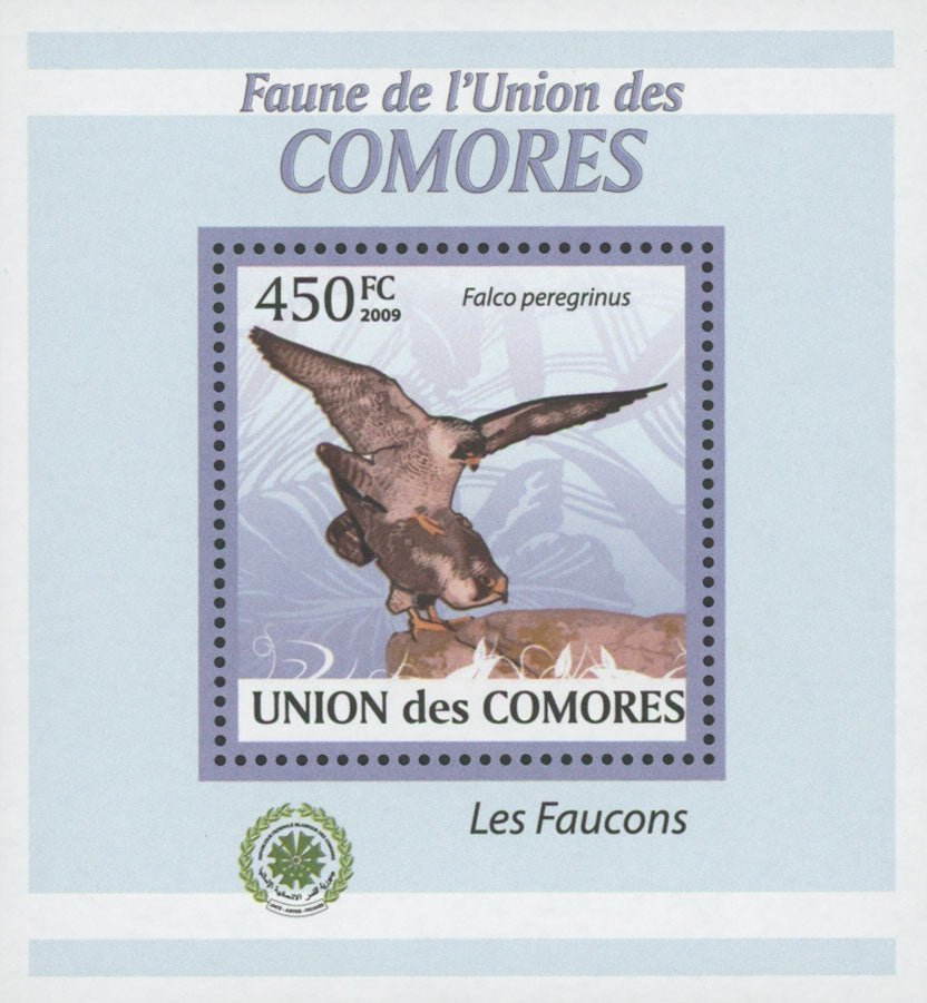 Falcons Bird Stamp Peregrinus Mini Sov. Sheet MNH