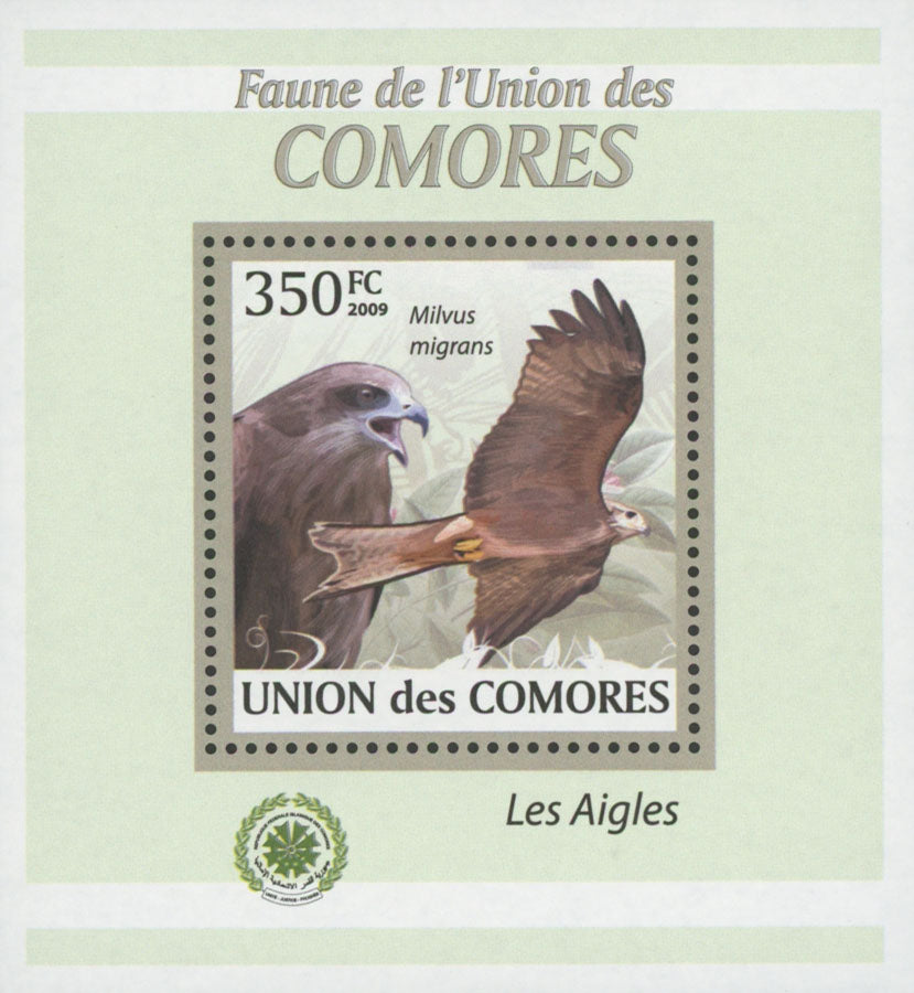 Fauna Eagle Milvis Migrans Mini Sov. Sheet MNH