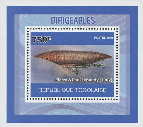 Dirigibles Pierre & Paul Lebaudy Mini Sov. Sheet MNH