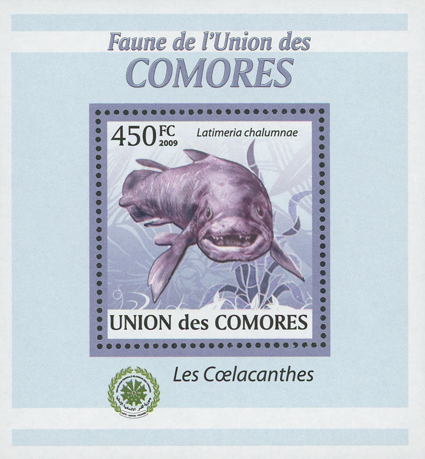 Coelacanths Stamp Latimeria Chalumnae Fish Mini Sov. Sheet MNH