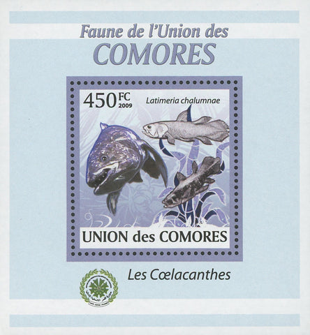 Coelacanths Latimeria Mini Sov. Sheet MNH