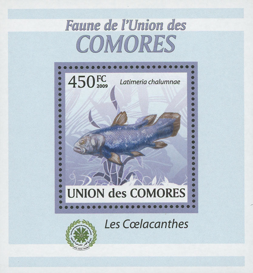 Coelacanths Latimeria Fish Mini Sov. Sheet MNH