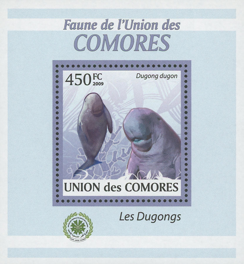 Dugongs Dugong Marine Fauna Mini Sov. Sheet MNH