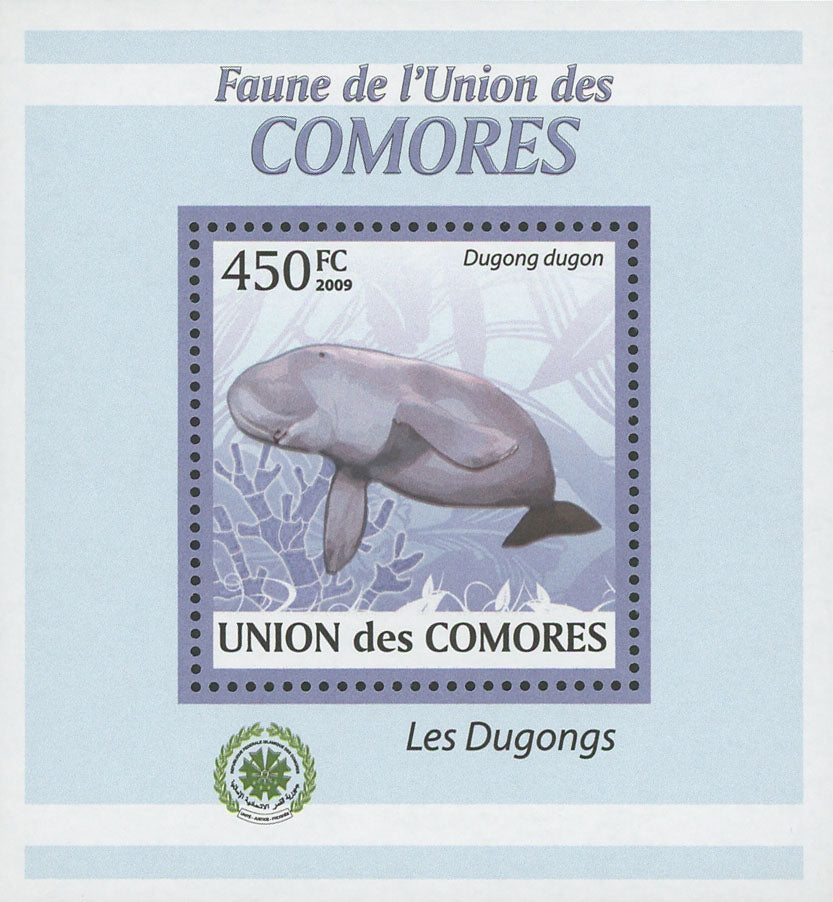 Dugongs Dugon Marine Fauna Mini Sov. Sheet MNH