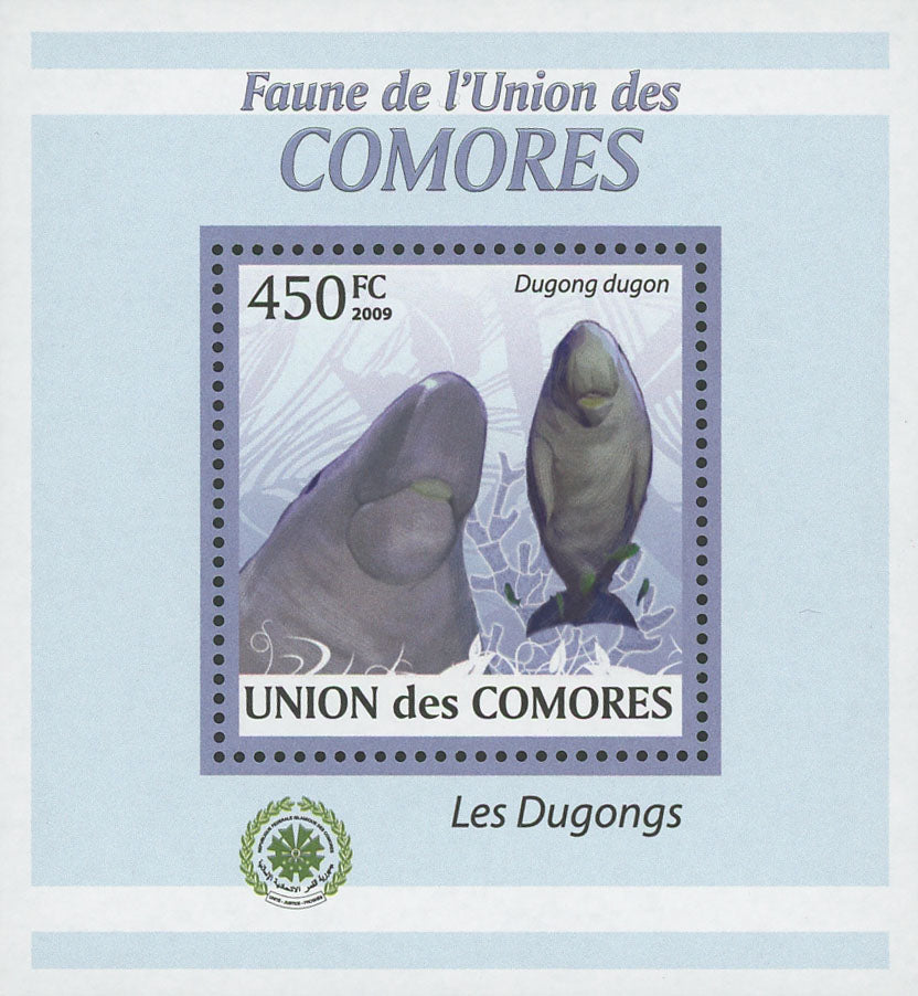 Fauna Dugongs Dugon Ocean Life Mini Sov. Sheet MNH